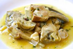 Alcachofas en escabeche, un bocado exquisito. Receta - Mercado Calabajío Nut Recipes, Clean Recipes, Healthy Recipes, Spanish Tapas, Food Humor, Food To Make, Food And Drink, Appetizers, Yummy Food