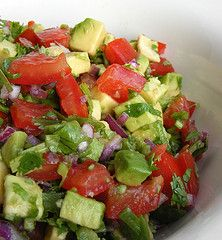 Avocado salad--absolutely delicious and so refreshing! Perfect for spring and summer bbq!
