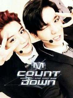 Chan Yeol & Baek Hyun | EXO-K Backstage on M Countdown for 'Overdose (중독)' stage 5.15.14