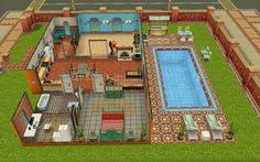 Sims Freeplay Housing Latin Villa