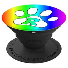 Letter R Initial Rainbow Paw Dog Cat Lover Monogram Gift  #cuteanimals #cute #cutepopsocket #popsocket #initialpopsocket #monogramgift