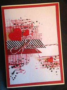 Valentine Card I made using Stampin Up Off the Grid, Gorgeous Grunge & Timeless Textures.