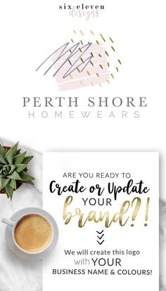 150  Perth Shore LOGO Premade Logo Design Branding Blog - SIX ELEVEN DESIGNS - Premade Logos on Etsy - Modern Branding Solutions for your business - Logos for your business, boutique or blog. Blogger header, Blog Header and social media. Photography Logos, Business Logos, Boutique Logos, Shop Logos, Brand Logos.