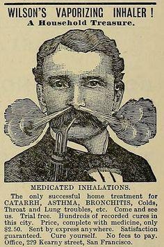 Vintage vaporizer advert from the patent medicine era.