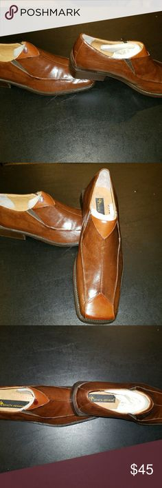 Stacy Adam's Mens Leather Shoes Two-tone Brown Leather Shoes Stacy Adams Shoes Loafers & Slip-Ons