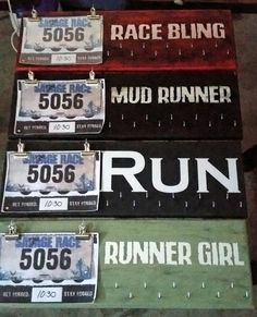 Custom Made Race Medal Display Board #custom