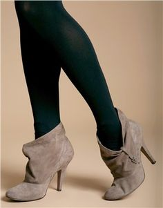 70s Suede Ankle Boots / Slouchy Leather Boots With Wooden Heel ...