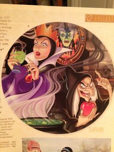 Snow White and the Seven Dwarfs Evil Queen, Mirror, Evil Hag/Witch Plate