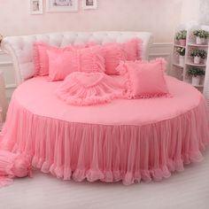 couvre lit pour lit rond Brandream Champagne Lace Ruffle Comforter Set Luxury Noble Bed  couvre lit pour lit rond