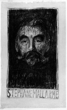 """Stéphane Mallarmé"" Edvard Munch - lithograph"