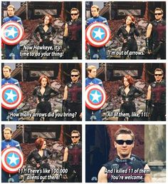 I was so happy to see this sketch. It makes me feel good to know that even Jeremy renner knows Hawkeye is almost as worthless as The Black Widow.