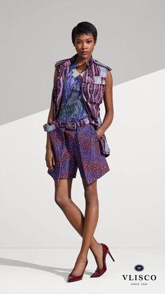 SAFARI LOOK This inspired safari look comes alive with shorts and gilet with wonderfully big pockets. Perfect for every day trips. | Vlisco - The True Original