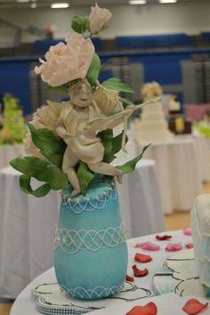 """2015 NCACS, """"On the wings of love"""" Table Decoration"""