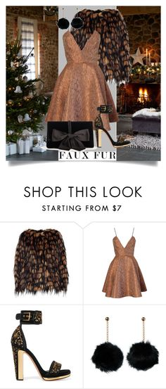 """faux fur"" by anemone-ci ❤ liked on Polyvore featuring Dries Van Noten, Joana Almagro, Alexander McQueen, Ann Taylor and fauxfurcoats"