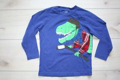Joe Fresh Dinosaur Hockey Applique T-Shirt