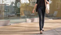 Yoga Pants Black Dress Straight Pants by betabrand, 88 $