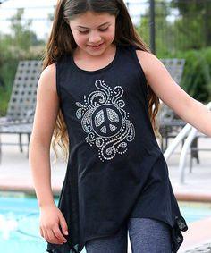 Black Glitter Carla Tunic - Toddler & Girls by Mi-Parti Designs #zulily #zulilyfinds