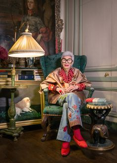 Iris Apfel Exhibition at Le Bon Marché
