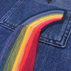 Ellie Mac Embroidery // Fringed Rainbow patch