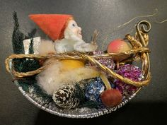 Merry Christmas Everyone, Sled, Pine Cones, Snow Globes, Shapes, Christmas Ornaments, Holiday Decor, Ebay, Vintage