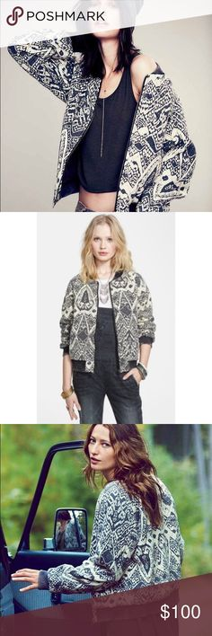 FREE PEOPLE QUILTED BOMBER JACKET NWOT. Brand new without tags. Never worn, only tried on. Beautiful colors and patterns. Can be dressed up or worn casual. Prefect material and weight - works for all seasons. Light enough in the summer and heavy in winter. Size large. MAKE ME AN OFFER Free People Jackets & Coats