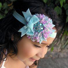 Baby Headband  Girls Headband Floral Chiffon by LittleDivaBoutique, $14.00