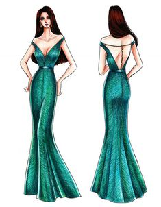 LOOK: Designer Mak Tumang's sketches of Catriona Gray's Miss Universe 2018 evening gowns Source by alikafashshshsh gowns sketches Fashion Model Sketch, Fashion Design Sketchbook, Fashion Design Drawings, Fashion Sketches, Gown Sketch Design, Dress Design Drawing, Dress Drawing, Fashion Figure Drawing, Fashion Drawing Dresses