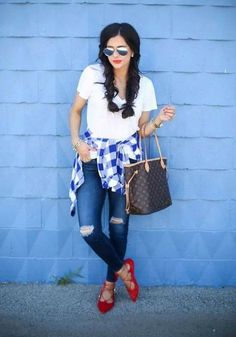 red white & blue outfit 4th Of July Outfits, Summer Outfits, Cute Outfits, College Outfits, Girl Fashion, Fashion Looks, Fashion Outfits, Womens Fashion, Cozy Winter Outfits