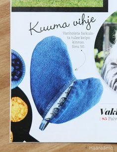 Kierrätysompeluohje: Patakinnas farkuista http://www.haaraamo.fi