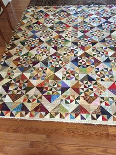Pinwheel Garden from Primitive Gatherings Quilt SHop Half Square Triangle Quilts Pattern, Pinwheel Quilt Pattern, Fall Quilts, Scrappy Quilts, Baby Clothes Quilt, Scrap Fabric Projects, Geometric Quilt, Fiber Art Quilts, Green Quilt