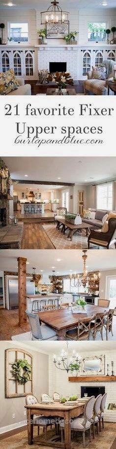 my very favorite Fixer Upper spaces…all in one blog post! Living room, dining … http://www.nicehomedecor.site/2017/08/04/my-very-favorite-fixer-upper-spaces-all-in-one-blog-post-living-room-dining/