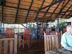13 may 2013. Dining area at Makambi.Kafue National Park, Zambia.