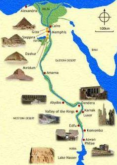 Best Ancient Egypt Maps ~ Ancient Egypt Facts