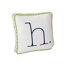 Lime Typewriter Letter Pillow | Serena & Lily