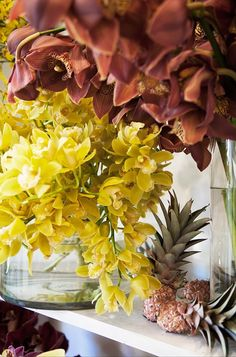 Orchids and Pineapples from Hermetica Flowers