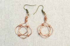 celtic wire jewelry tutorial | ... Jewelry Designs- Making Celtic Knot Earrings with Copper Wire for