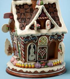 painted gingerbread houses   Jim Shore Christmas Holiday Gingerbread House Revolving Advent ...