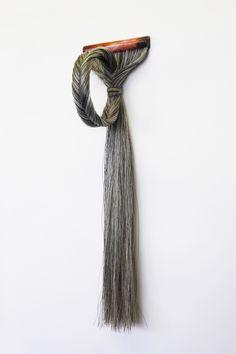 Olivia Creber: Keeping Schtum Gag, 2013, mouth piece, resin, acrylic rod, horse hair.