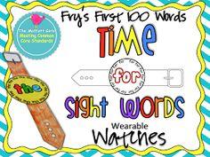 The Moffatt Girls: Sight Word Watches (Fry's 100 List)