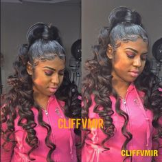 50 Best Black Ponytail Hairstyles IdeasAll images are taken from public sources Sleek Ponytail, Ponytail Styles, Ponytail Hairstyles, Weave Hairstyles, Curly Hair Styles, Natural Hair Styles, Weave Ponytail, Curled Ponytail, Hair Ponytail