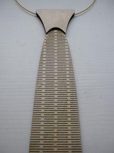 Wooden necktie / choker / tie  laser cut from by CreativeUseofTech, $35,00