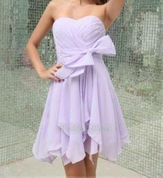 Lavender Short Bridesmaid Dress Light Purple Knee Length Chiffon Dress on Etsy, $98.00
