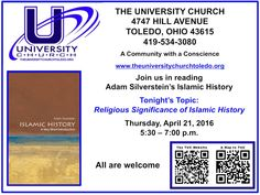 April 21 2016 at 5:30 p.m. - Theology Group at The University Church.