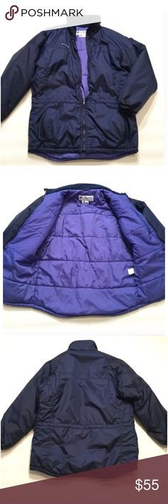 """Columbia Jacket Size small. Loose fit. Length approx 30.5"""". Arm length approx 25.5"""". Nylon/ Polyester. Insulated. Adjustable Cord drawstring on waist. Columbia Jackets & Coats"""
