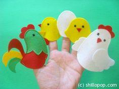 Куриная семейка пальчиковые игрушки выкройки фетр