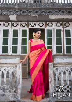 Looking for half saree color combinations ? Check out 21 cool looking half saree designs with trending colors and modern appeal. Kanjipuram Saree, Saree Poses, Anarkali, Lehenga, Indian Attire, Indian Outfits, Indian Wear, Kanchipuram Saree Wedding, Indian Sarees