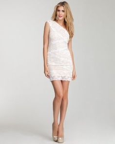 http://www.amazon.com/gp/product/B006OLAEVE/ref=as_li_qf_sp_asin_il_tl?ie=UTF8=pinterest0067-20=as2=1789=9325=B006OLAEVE    bebe One-Shoulder Mixed Lace Dress. Price : $119.00
