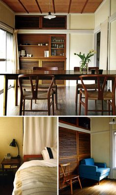 """A """"clever, compact Tokyo apartment,"""" scanned from Handmade Home, by Mark and Sally Bailey with photographs by Debi Treloar. Cream Dining Room, Tokyo Apartment, Interior Styling, Interior Design, Minimalist Living, Ideal Home, Beautiful Interiors, My Dream Home, Decoration"""