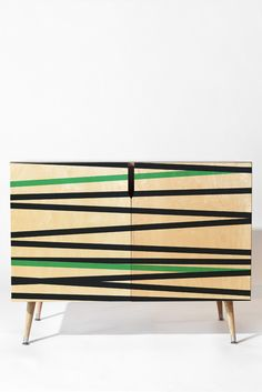 Khristian A Howell Crew Stripe Cool Credenza | DENY Designs Home Accessories