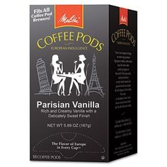 MLA75411  Melitta Coffee Pods Parisian Vanilla Flavored Coffee 18Count -- Check out the image by visiting the link. (This is an affiliate link and I receive a commission for the sales)